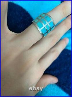 Federico Jimenez Sterling Silver/Sleeping Beauty Turquoise Ring