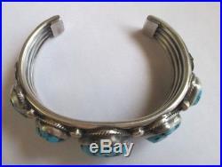 Fine Verdy Jake Navajo Sleeping Beauty Turquoise and Sterling Silver Bracelet