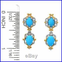 Gems en Vogue 1 Multi Shape Sleeping Beauty Turquoise Drop Earrings Valitutti