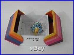 Gems en Vogue Warrior Ring 10 Sleeping Beauty Turquoise SS 18k Valitutti Jewelry