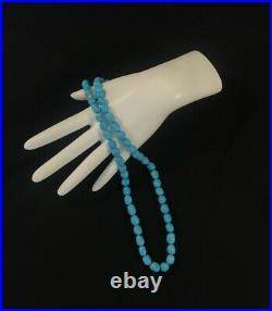 Genuine Sleeping Beauty Turquoise Nugget Beads Strand 16'' Long