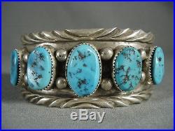 Hvy Old Sleeping Beauty Turquoise Vintage Deep Wave Bracelet
