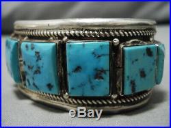 Incredible Vintage Navajo Sleeping Beauty Turquoise Sterling Silver Bracelet
