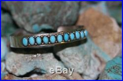 J. Begay #navajo Cuff #bracelet With Sleeping Beauty, #sterling, Signed