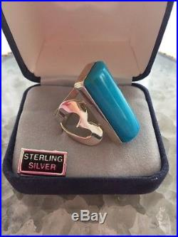 JAY KING DTR 925 Sterling Silver Sleeping Beauty Turquoise Ring Size 7.75