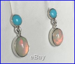 JAY KING Ethiopian Opal & Sleeping Beauty Turquoise Earrings, Sterling Silver