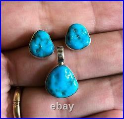 JAY KING Sleeping Beauty Turquoise Pendant & Earrings Set, Sterling Silver. 925