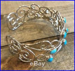JAY KING Sleeping Beauty Turquoise Scroll Cuff Bracelet, Sterling Silver