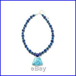 Jay King Sleeping Beauty Turquoise And Lapis Sterling Silver 18 Necklace 488889