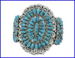 Justin Wilson, Bracelet, Cluster, Sleeping Beauty Turquoise, Navajo Made, 7 in