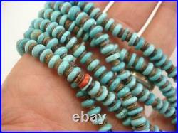 KEWA Santo Domingo 3-Strand Necklace Arizona Blue Sleeping Beauty Turquoise Long