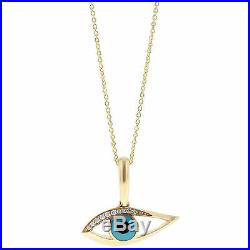 Kabana Kalo Mati Yellow Gold Evil Eye Diamond Pendant Sleeping Beauty Turquoise