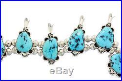Kenneth Jones, Squash Blossom Necklace, Sleeping Beauty Turquoise, Navajo