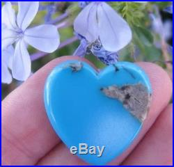 LARGE Sleeping Beauty Turquoise Heart Cabochon Carving 100% NATURAL GEMSTONE