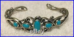 LKQVC Carolyn Pollack Sleeping Beauty Turquoise Sterling Cuff Bracelet
