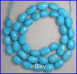 Large Graduated Sleeping Beauty Turquoise LooseNugget Beads Blue 18 Std. # 344