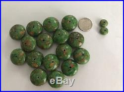 Large Lot Natural Turquoise Beads Sleeping Beauty Carico Green Kingman Number 8