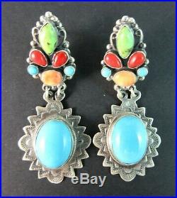 Leo FeeneySouthwest Colorful Gem Grade ClusterSleeping Beauty 925 Earrings