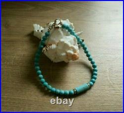 MINAS 9ct Gold Sleeping Beauty Turquoise Gemstone Bracelet size 7.5 SALESALE