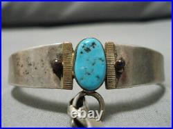 Marvelous Vintage Navajo Old Sleeping Beauty Turquoise Sterling Silver Bracelet