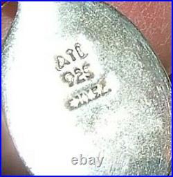 Mexico 925 Sterling Sleeping Beauty Turquoise Link Bracelet & 950 Hoop Earrings