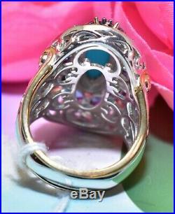 Michael Valitutti Gems en Vogue Sleeping Beauty Turquoise Topaz Halo Ring