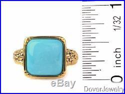 Modern 3.00ct Sleeping Beauty Turquoise 14K Yellow Gold Ring NR