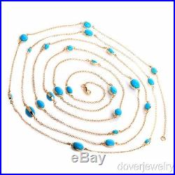 Modern Sleeping Beauty Turquoise Silver Wrap Necklace 23.7 Grams NR