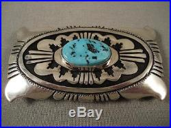 Museum Vintage Sleeping Beauty Turquoise Silver Thomas Singer Silver Buckle-wow