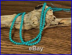 NATURAL Sleeping Beauty Turquoise Beads 4mm BEST color 18 TOP Quality