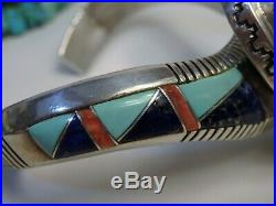 NAVAJO David Lister CANDELARIA & Sleeping Beauty TURQUOISE STERLING CUFF sgnd