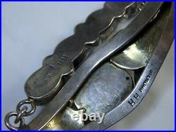 NAVAJO Henry SLEEPING BEAUTY TURQUOISE STERLING Silver SLAVE Bracelet Ring s8.5