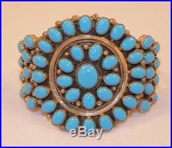 Navajokathelen Livingstonsterlingsleeping Beauty Turquoisecluster Bracelet