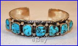 Navajomelvin Thompsonsterlingsleeping Beauty Turquoiseline Bracelet