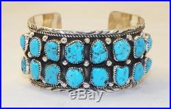 Navajomike Thomas Jrsterling Silversleeping Beauty Turquoisebracelet