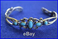 NEW Carolyn Pollack SLEEPING BEAUTY TURQUOISE Sterling Cuff Bracelet Large