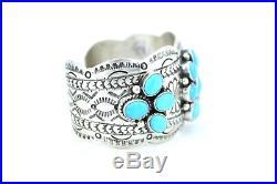 Native American Navajo Indian Jewelry SS Natural Sleeping Beauty Bracelet