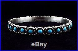 Native American Navajo Indian Jewelry SS Sleeping Beauty Bangle Bracelet