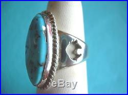 Native American Navajo Sleeping Beauty Turquoise Ring Size 7 Sterling