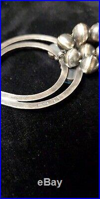 Native American Navajo Sterling Silver Sleeping Beauty Turquoise Squash Blossom