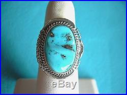 Native American Sleeping Beauty Turquoise And Sterling Silver Ring Size 7