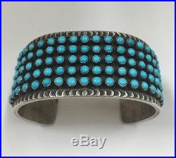 Native American Sterling Silver Navajo Sleeping Beauty Turquoise Cuff