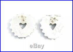 Native American Sterling Silver Zuni Sleeping Beauty Turquoise Post Earrings