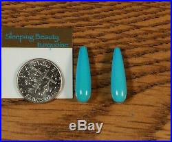 Natural CHOICE Sleeping Beauty Turquoise half Drilled Drop larger Dangles
