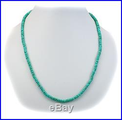 Natural Real Blue Turquoise Faceted Necklace Sleeping Beauty Sterling Silver 18