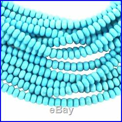 Natural SLEEPING BEAUTY TURQUOISE 4.5mm Rondelle Beads 25 PcsNew World Gems