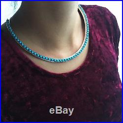 Natural Sleeping Beauty Sterling Choker Necklace One of a Kind Treasure