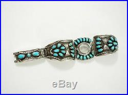 Navajo 33 stone Sleeping Beauty turquoise Petti-Point Watch Bracelet