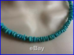 Navajo Arizona Turquoise Necklace Sleeping beauty nugets cone silver plate clasp