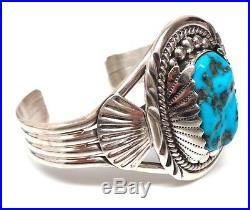 Navajo Handmade St Silver Sleeping Beauty Turquoise Bracelet -Mary Ann Spencer